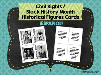 HS Civil Rights / Black History Month Historical Figures SPANISH ONLY Español