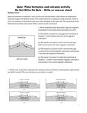 High School Earth Science Quiz - Plate Tectonics