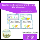 HS G12a Identifying Continents and Oceans Print AND Digita