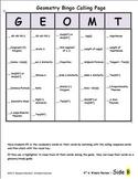 HS Geometry Bingo review - 4th 6 weeks