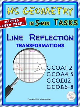 LINE REFLECTION  (Geometry Curriculum in 5 min tasks - Unit 19)