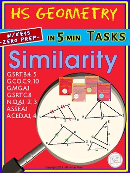 TRIANGLE SIMILARITY (Geometry Curriculum in 5 min tasks - Unit 13)