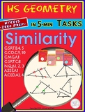 SIMILAR Triangles Bundle (Geometry Curriculum Tasks/ warm-ups - Unit 13)