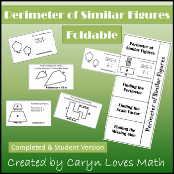 Perimeter of Similar Figures FOLDABLE~Student Notes~HS Geometry