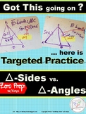 HS Geometry Practice Solving for Sides and Angles of Triangles