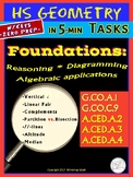 HS GEOMETRY Basics and FOUNDATIONS (Geometry Curriculum in