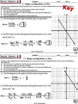 SLOPE (Geometry Curriculum in 5 min tasks/ warm-ups/ assessments - Unit 3)