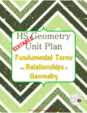 {EDITABLE} Geometry Unit Plan: Basic Terms and Relationships