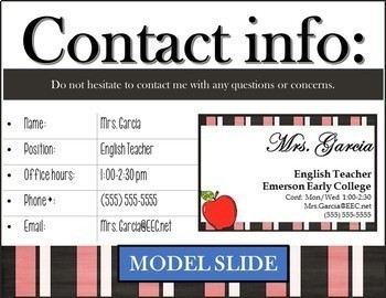 HS/MS EDITABLE Meet-the-Teacher MEGA BUNDLE: PowerPoint-Forms-Stations