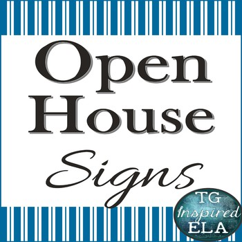 HS/MS Open House Station Signs [Blue]: Ready for Meet the Teacher Night!