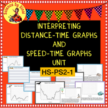 HS-PS2-1 NGSS Interpreting Motion DISTANCE-TIME and SPEED-TIME GRAPHS