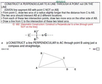 HS Geometry B UNIT 2: Constructions (3 worksheets and 8 optional quizzes)
