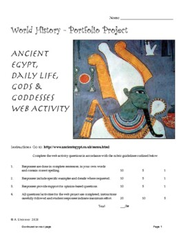 HS World History - Ancient Egypt Web Activity