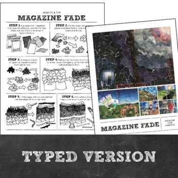 HS or MS Visual Journal or Art Journal: Magazine Fade Collage How To