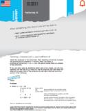 HSA: Polynomials & Factoring: L7: Factoring 2 HSA.REI.B.4&5