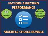 HSC PDHPE Factors Affecting Performance Multiple Choice