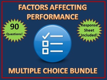 HSC PDHPE Factors Affecting Performance Multiple Choice