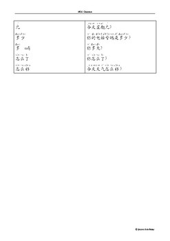 HSK Level 1 Grammar Notes with Pinyin