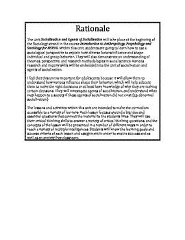 HSP3U - Sociology - Agents of Socialization