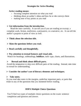 HSPA Notes