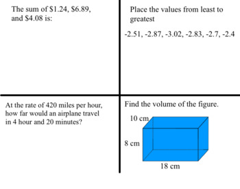 HSPT MATH Problem of the Day PowerPoint