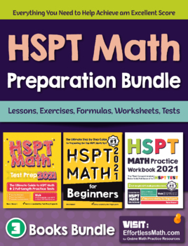 HSPT Math Preparation Bundle: Lessons, Worksheets, Activities, Practices, Tests