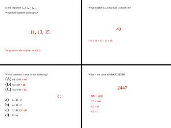 HSPT Preparation Math PODs PowerPoint