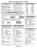 HTML / CSS Cheat Sheet (PDF)