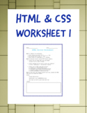 HTML & CSS Coding Review Worksheet