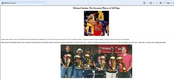 HTML - Fix That Site! - Michael Jordan Edition