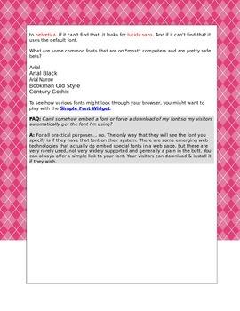 HTML Lesson 4 Argyle Background