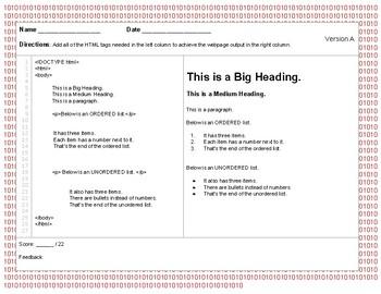 HTML Lists Quizzes