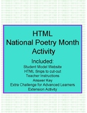HTML National Poetry Month Activity
