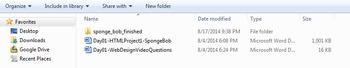 HTML Project 1 - Spongebob