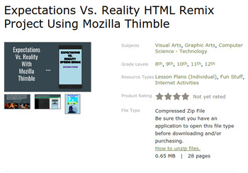 HTML Remix Bundle with Mozilla Thimble - Chromebook Friendly