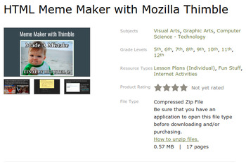 HTML Remix Bundle with Mozilla Thimble - Chromebook Friendly