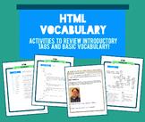 HTML Vocabulary Activity Packet