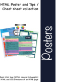 HTML and web design Poster and Tips / Cheat sheet collection