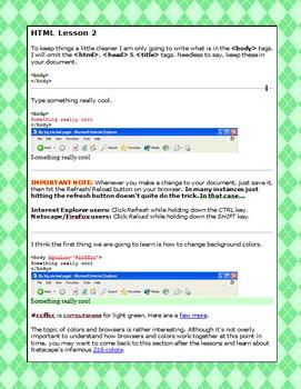 HTML lesson 2