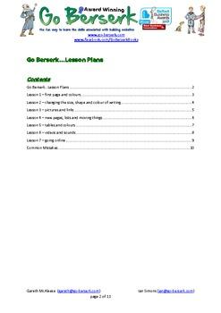 HTML web site lesson plans