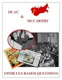 HUAC & McCarthy Stimulus Based Questions