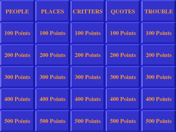 HUCKLEBERRY FINN JEOPARDY REVIEW GAME PART ONE