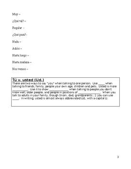 HUGE EDITABLE 107 Pg bundle Spanish I Realidades NOTES PE - 4B  PRACTICE