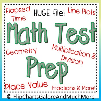 HUGE 3rd Grade Math Test Prep Bundle ~ CCSS ~ 30+ Files + FREEBIE