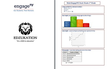 HUGE 5th NYS EngageNY Bundle Math Reading/LA SC SS Study Guides & TWO Workbooks