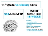 HUGE BUNDLE (18 Weeks!) 11th grade SAT-ALIGNED Vocabulary Units