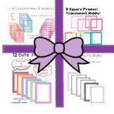 HUGE BUNDLE-*4 Frames & Borders Products in 1*