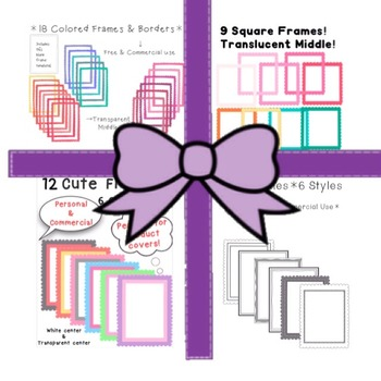 HUGE BUNDLE-*4 Frames & Borders Products in 1*