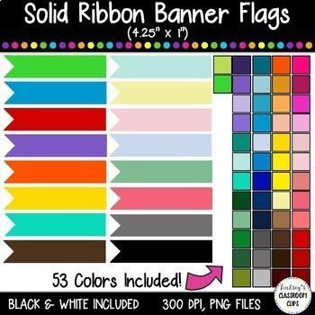 HUGE BUNDLE - Stitched & Plain Banner Flag Clipart / Journal Tabs - 312 images!