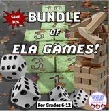 HUGE BUNDLE of ELA GAMES! Jenga, vocabulary, poetry, Hallo